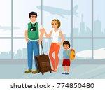 vector illustration happy... | Shutterstock .eps vector #774850480