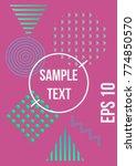 minimum geometric coverage.... | Shutterstock .eps vector #774850570