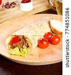 traditional tortilla on a... | Shutterstock . vector #774851086