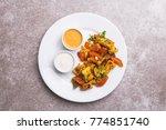 indian cuisine. paneer tikka... | Shutterstock . vector #774851740