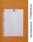 Small photo of Blank Note Paper with Pin