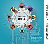 idea concept for business... | Shutterstock .eps vector #774855166