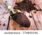 soil for planting on wood...   Shutterstock . vector #774855196