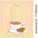 menu coffee shop   Shutterstock .eps vector #77485669