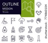set of outline icons of mission.... | Shutterstock .eps vector #774860104