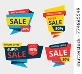 set of sale banner collection ... | Shutterstock .eps vector #774865549