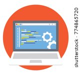 a laptop screen with... | Shutterstock .eps vector #774865720