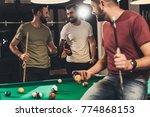Young Caucasian Men Drinking...