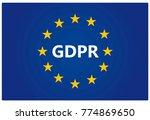 gdpr   european general data... | Shutterstock .eps vector #774869650