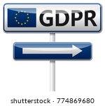gdpr   european general data... | Shutterstock .eps vector #774869680