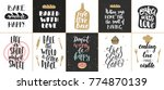set of vector bakery lettering... | Shutterstock .eps vector #774870139