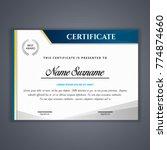 certificate template in vector... | Shutterstock .eps vector #774874660