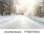 Winter Road. Photo Of Free...