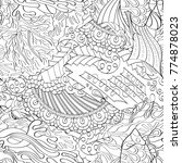 tracery seamless pattern.... | Shutterstock .eps vector #774878023