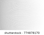 abstract halftone wave dotted... | Shutterstock .eps vector #774878170