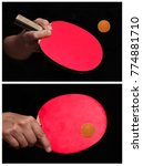 2 styles of table tennis... | Shutterstock . vector #774881710