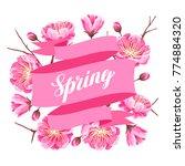 spring background with sakura... | Shutterstock .eps vector #774884320