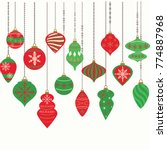 christmas ornaments christmas... | Shutterstock .eps vector #774887968