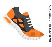 running shoes flat icon ... | Shutterstock .eps vector #774894190