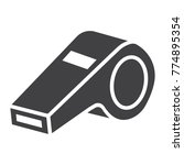 whistle glyph icon  fitness and ... | Shutterstock .eps vector #774895354