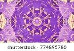 violet kaleidoscope patterns.... | Shutterstock . vector #774895780