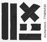 adhesive tape set on... | Shutterstock .eps vector #774896530