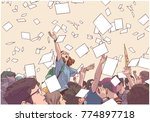 illustration of students... | Shutterstock .eps vector #774897718
