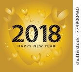 happy new year 2018 concept... | Shutterstock .eps vector #774900460
