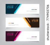abstract banner design... | Shutterstock .eps vector #774903706