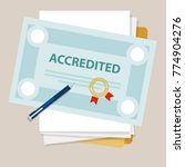 accredited authorized... | Shutterstock .eps vector #774904276