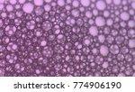 macro shot foam bubble from... | Shutterstock . vector #774906190