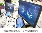 medical devices for ultrasound... | Shutterstock . vector #774908104