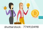 woman getting investment in the ... | Shutterstock .eps vector #774910498