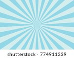 Blue Sunburst Pattern Abstract Background. Ray. Radial. Vector Illustration - stock vector