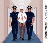 police officers arrested... | Shutterstock .eps vector #774912589