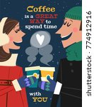 coffee is a great way to spend... | Shutterstock .eps vector #774912916