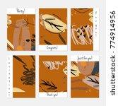 hand drawn creative universal... | Shutterstock .eps vector #774914956