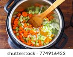 minestrone soup made in instant ... | Shutterstock . vector #774916423