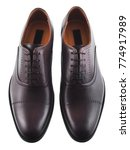Dark Brown Men's Leather Shoes...