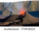 volcano in eruption  reunion...   Shutterstock . vector #774918310