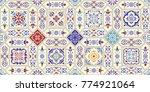 seamless ceramic tile with... | Shutterstock .eps vector #774921064