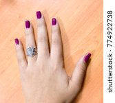hand woman manicure | Shutterstock . vector #774922738