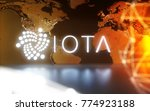 iota cryptocurrency technology... | Shutterstock . vector #774923188