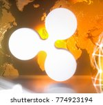 ripple xrp cryptocurrency... | Shutterstock . vector #774923194