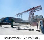 factory for cleaning of metal... | Shutterstock . vector #774928588