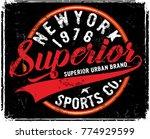 athletic graphic design | Shutterstock .eps vector #774929599