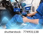 car service  repair  technology ... | Shutterstock . vector #774931138