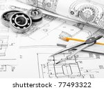 indastrial drawing detail and... | Shutterstock . vector #77493322