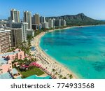 waikiki beach in hawaii | Shutterstock . vector #774933568