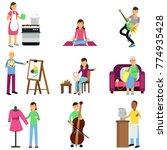 creative set of adult people... | Shutterstock .eps vector #774935428